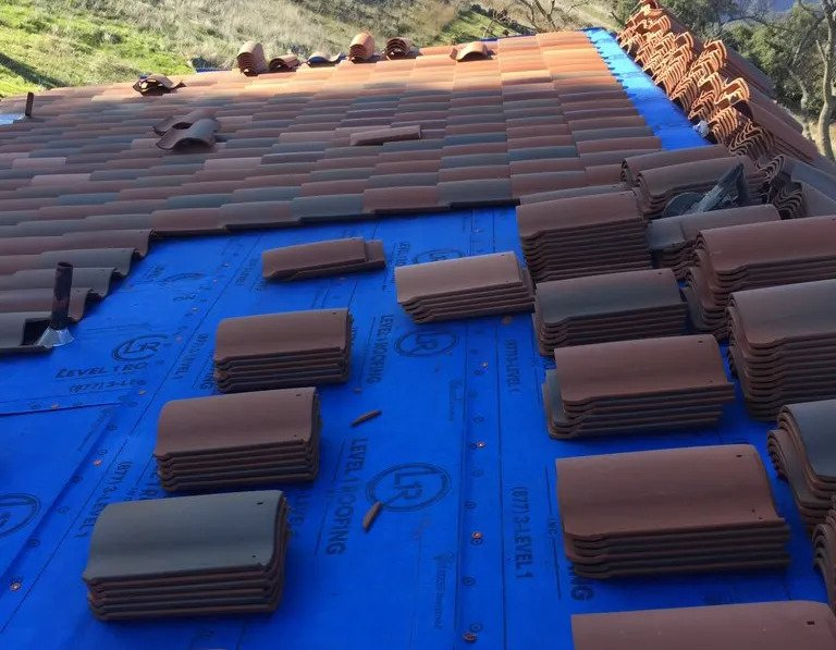Roof Replacement with Clay Tile