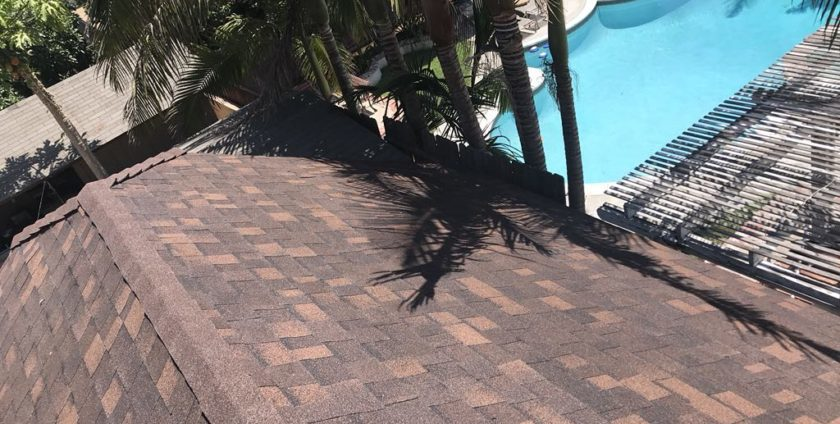 Pico Rivera Roof Replacement of Garage with Hickory Shingles