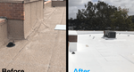 Oberlin Drive Office Park in San Diego: Silicone Roof Restoration
