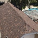Roof Replacement of Garage with Hickory Shingles