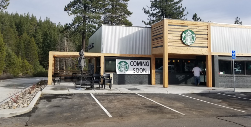 Starbucks in Truckee, CA, TPO Single Ply Flat Roof System